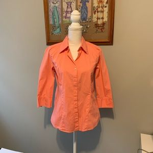 Kim Rogers pink button down shirt SZ M